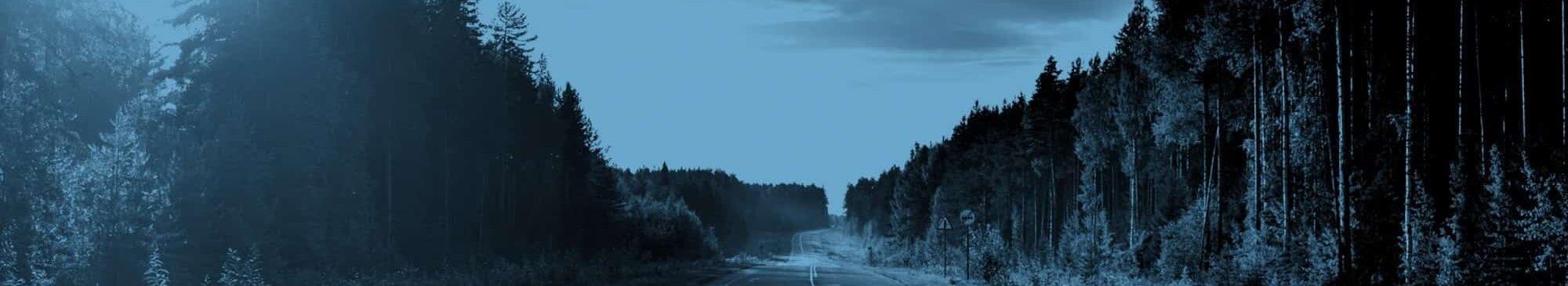 vej baggrund blå